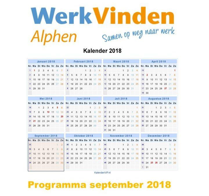 Programma september 2018