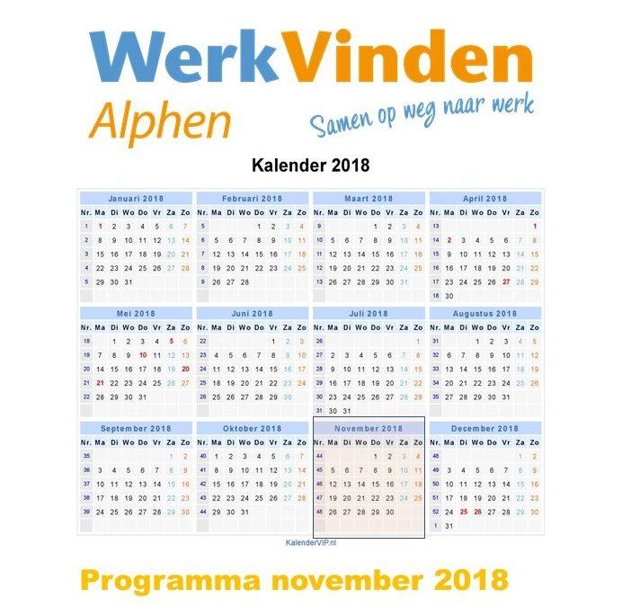 Programma November 2018