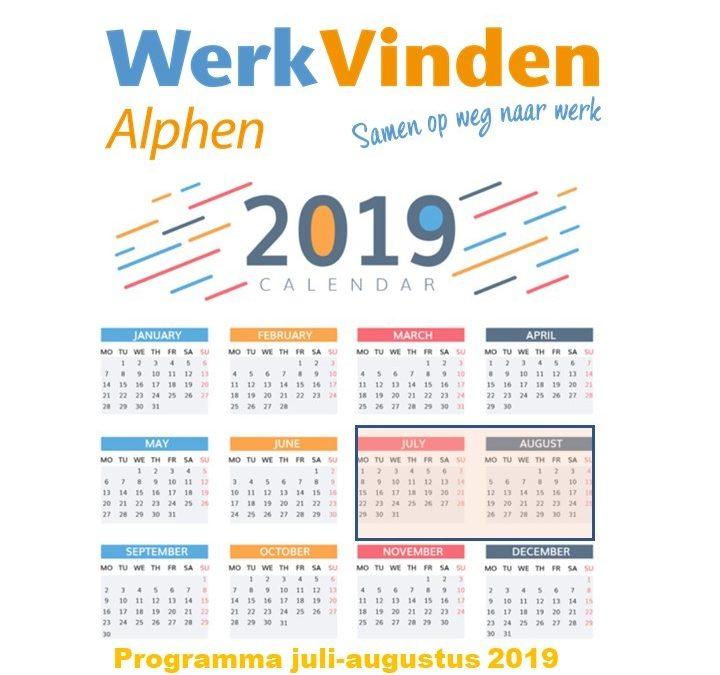 Programma juli – augustus 2019