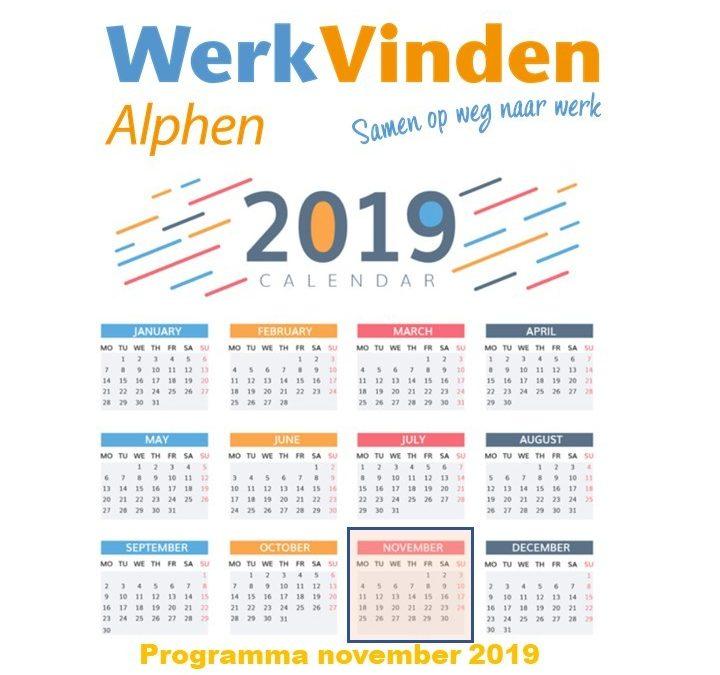 Programma november 2019